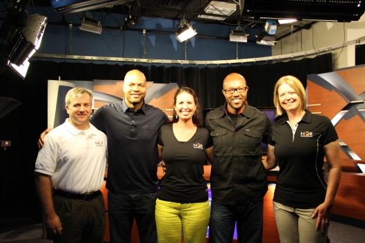 At the News 14 studio!
